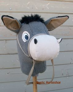 MADE to ORDER Cartoon Collection Donkey Stick by RusticHorseShoe