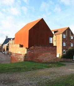 London Architects Haworth Tompkins Have Inserted A Corten Steel Artistu0027s  Studio Into A Ruined Victorian Dovecote In Suffolk, UK. Called The Dovecote  Studio, ...