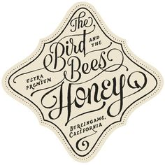 The Bird Bees Honey Label