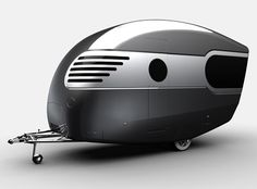 Caravan Design That is Inspired by Airstreams & 50's Style - looks like a helmet, either way I think its so cute.