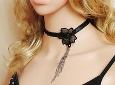 Gothic Chic Fashion Vintage Tassels Lace Necklace   $10.99