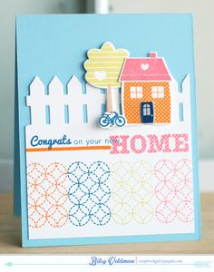 Congrats-New-Home C: note bottom stamp repeated in diff colors