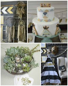 Be Brave Boho themed baby shower via Kara's Party Ideas | KarasPartyIdeas.com (2)