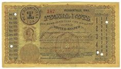 Pleasantville, IA 1883 Postal Note #187 Issued for 2 cents; payable at St. Paul, MN