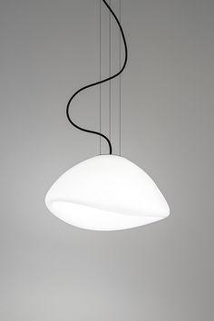 AUSUM white S | suspended | DARK | design | lighting | GLASS | white | 400x300 | LED