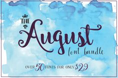 last day to buy this month's HUNGRY JPEG bundle this month! http://nonnaiandd.squarespace.com/blog/august-font-bundle