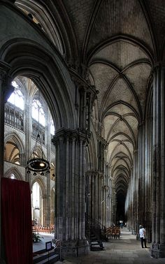 Cathédrale Notre-Dame de Rouen. It is next to the square where Joan of Arc was burned at the stake. I've been here and it is beautiful.