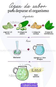 Agua DE sabor para depurar el organismo….
