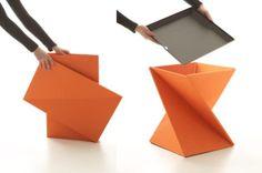 Yves Béhar's Kada Multi-Functional Flat-Pack Stool and Table : TreeHugger