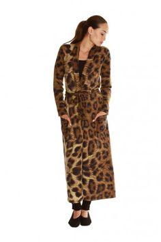 leopard  cashmere robe