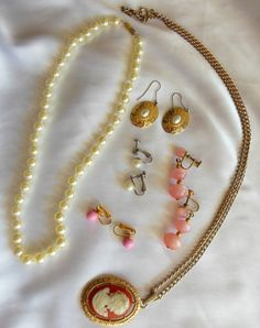 Vintage Jewelry Lot Pearl Earring Destash by VJSEJewelsofhope, $15.00
