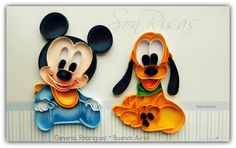 mickey baby quilling paper