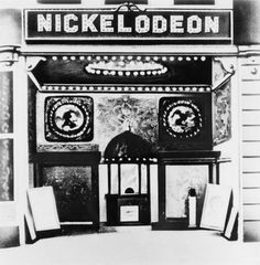 "Entrance to the Harris nickelodeon, Smithfield Street in Pittsburgh, 1919. Carnegie Library of Pittsburgh (via)   On This Day in Pittsburgh History: June 19, 1905     The ""Nickelodeon,"" the country's first all-motion picture house, was opened by Harry Davis and John P. Harris at 433-35 Smithfield Street with the showing of two short films, ""Poor but Honest"" and ""The Baffled Burglar."" It was a great success, with people flocking to the place and marveling at the moving"
