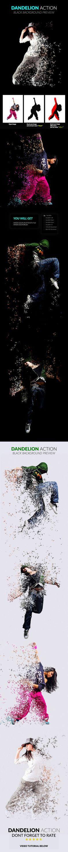 #Dandelion Action - Photo Effects Actions #PSAction #Photoshop #PS #Graphicriver #PhotoEffects #Design #Art #Digitalart