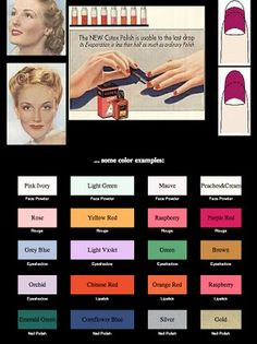 1930s beauty colors by Cutex