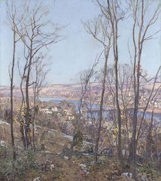 """A Pennsylvania Landscape,"" Edward Willis Redfield, ca. 1916, oil on canvas, 56 x 50"", Philadelphia Museum of Art."