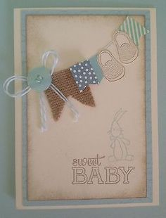 Stampin Up - Baby Boy Handmade card - Sweet Baby