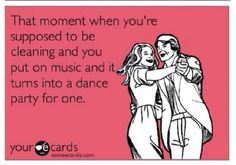 Mine is usually a dance party with my 3 little people.