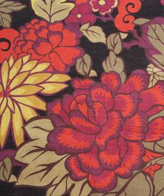 floral print fabrics from the UK | Print Linen Union, Liberty Furnishing Fabrics. Shop more floral print ...