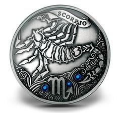 Silver Crystal Zodiac Collection (2013) - Scorpio 1st coin of the Silver Zodiac Collection
