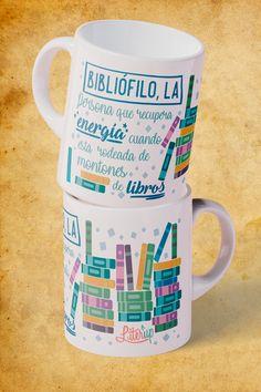 Tienda - Taza 'Bibliófilo,la' (NUEVO DISEÑO) | Literup