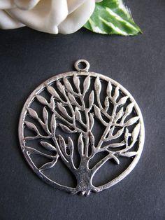 Metallanhänger Baum des Lebens, 4,3 cm in silber geschwärzt, Anhänger