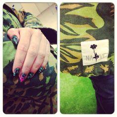 #nails #nailspiration #nailporn #nailswag #nailart #nails #nailsart #nailedit #nail #manicure #mani #camo #moro #naive #nature #deer