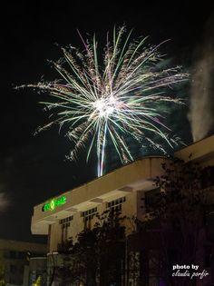 Artificii la trecerea dintre ani 2014 - 2015 Botosani,Romania