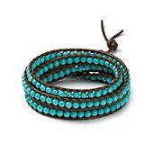 Chan Luu Brown Turquoise Five Wrap Bracelet