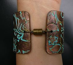 Handmade copper and bronze with patina polymer by adrianaallenllc