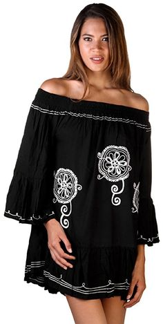 84cc4455555 ... Women's Embroidered Peasant Dress, Black/Cream. See more. T is for Tunic,  and Totally Awesome! -