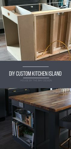 How to Build a DIY Kitchen Island How we created our DIY Kitchen Island with pr.How to Build a DIY Kitchen Island How we created our DIY Kitchen Island with prefab cabinets, a Diy Kitchen Island, New Kitchen Cabinets, Kitchen Layout, White Cabinets, Kitchen Island On Wheels, Kitchen Diy Design, How To Build Kitchen Island, Small Kitchen Islands, Diy Kitchen Ideas
