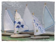 Driftwood Beach Decor Five Little Sailboats by LoveEmbellished