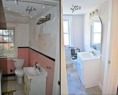 "Bathroom Mirrors Richmond Va cape cod cottage makeover in richmond, va ""before & after"" #rva"