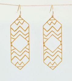 #EcoTastemaker @Erika @ Style Me Green loves the Kris Nations Montana Swing Earrings, #73  #RecycledJewelry, #EthicalJewelry