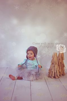 1st birthday photography, winter themed photo shoot,  Come walk in my shoes