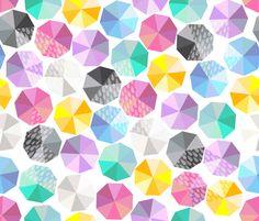 Rainbow in the rain fabric by zapi on Spoonflower - custom fabric