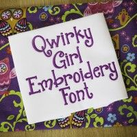 Quirky Girl Embroidery Font Designs by JuJu Machine Embroidery Designs