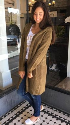 Riding Hood Cardigan Olive   The Rock Box Store