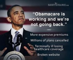 Working just as planned.... and soon, even the Democratic voters will regret this legislation.... when they are taxed for not having insurance, it will be the demise of the party!