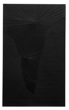 Sandeep Mukherjee Untitled (Black Valley), 2008 Acrylic, gesso, and embossed drawing on Duralene 8 x 5 fee Abstract, Gallery, Drawings, Artwork, Artists, Black, Summary, Work Of Art, Roof Rack
