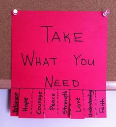 Take what you need therapy activity