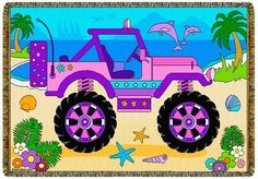 Cotton Woven Throw Kid's Girl's Pink Jeep Themed by New Speed Limit, http://www.amazon.com/dp/B00E3UOQ2Q/ref=cm_sw_r_pi_dp_K0P7rb17C2D1D