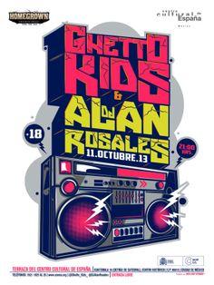 Ghetto Kids Live at Terraza Centro Cultural España on Behance Design Art, Logo Design, Graphic Design, Graffiti Lettering, Typography, Hip Hop Tattoo, Fm Band, Wildstyle, Vintage Music