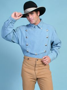 MENS Scully Range Wear 1800s Old West Pioneer Shirts | Old Trading ...
