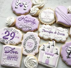 Wedding set designed for @sugarysweetcookies #theylivedhappilyeverafter