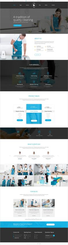 Buy PrettyPress - Cleaning Service PSD Template by mwtemplates on ThemeForest. Pretty Press is an impressive new PSD template designed specifically for cleaning service companies. The template ha. Cleaning Services Prices, Cleaning Services Company, Cleaning Companies, Cleaning Business, Cleaning Tips, Beautiful Website Design, Website Design Inspiration, Web Themes, Website Design Company