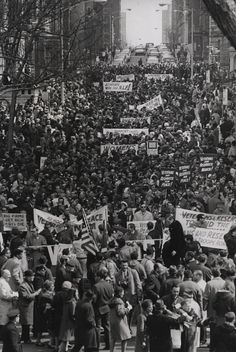 Peace march protesting U.S. in Vietnam (New York, N.Y.) (1966) by Penn State Special Collections Library, via Flickr
