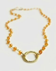 Amalfi Necklace with Carnelian Summer Fashion by Flow Designs