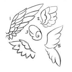 Art tutorials / angel wings on we heart it Angle Wings Drawing, Angel Drawing, Pony Drawing, Drawing Base, Art Drawings Sketches, Easy Drawings, Art Reference Poses, Art Tutorials, Kawaii